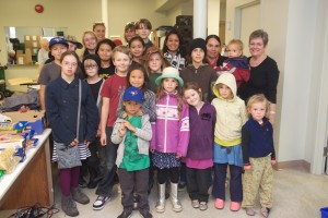 Toronto East Homeschoolers visit the food bank